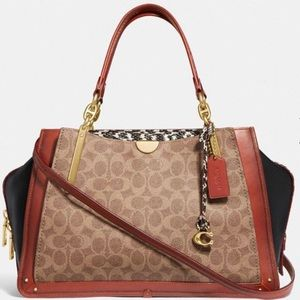 Coach Dreamer 36 In Signature Canvas/Snakeskin